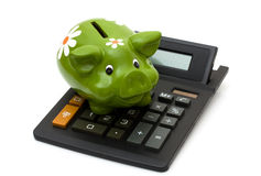 Calculating your savings Stock Photography