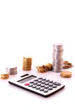 Calculation. Of financial growth and investment royalty free stock image