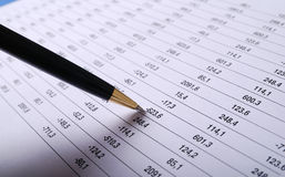 Calculation account royalty free stock image