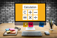 Calculation Business finance Investment Accounting Banking Budge Stock Photo
