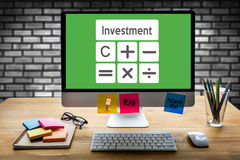 Calculation Business Investment Accounting Banking Budget Calcul Stock Image