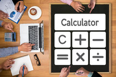 Calculation Business Investment Accounting Banking Budget Calcul Royalty Free Stock Image