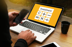 Calculation Business Investment Accounting Banking Budget Calcul Stock Photos
