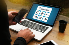 Calculation Business Investment Accounting Banking Budget Calcul Stock Images