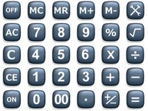 Calculation Buttons Royalty Free Stock Images