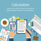 Calculation concept. Stock Photos
