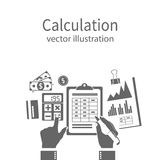 Calculation concept, icon Stock Photography