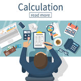 Calculation concept vector Royalty Free Stock Photos