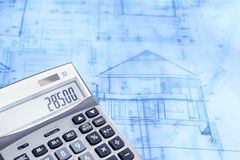 Calculation of construction Stock Images