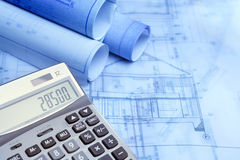 Calculation of construction Stock Photography