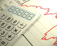 The calculation Royalty Free Stock Images