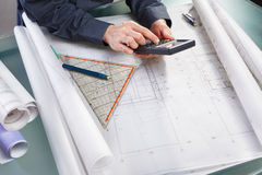 Calculation on design Royalty Free Stock Photo