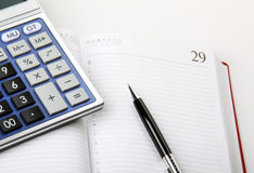 Calculation of the finance Royalty Free Stock Photos