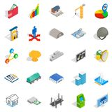 Calculation of finance icons set, isometric style. Calculation of finance icons set. Isometric set of 25 calculation of finance vector icons for web isolated on Royalty Free Stock Photography