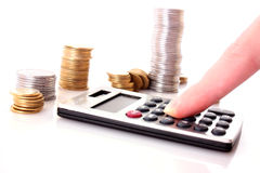 Calculation of financial Royalty Free Stock Image