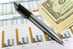 Calculation of house budget. Royalty Free Stock Images