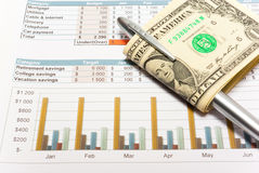 Calculation of house budget. Royalty Free Stock Photography