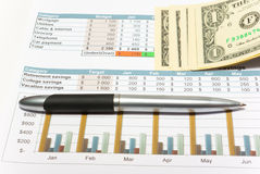 Calculation of house budget. Stock Photography