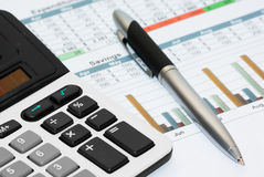 Calculation of house budget Royalty Free Stock Image