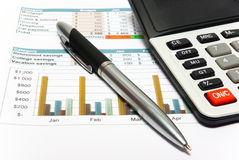 Calculation of house budget. Royalty Free Stock Photo