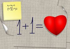 Calculation of love Royalty Free Stock Image