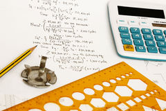 Calculation of mechanical equipment Royalty Free Stock Photography