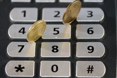Calculation and monetary value. Concept of calcution appreciation and monetary value royalty free stock photo