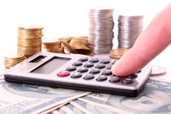 Calculation of money Stock Photo