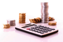 Calculation money Stock Photo