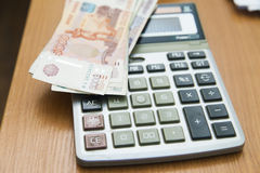Calculation of money Stock Photo