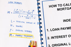 Calculation on monthly payments Royalty Free Stock Photography