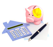 Calculation of mortgage Royalty Free Stock Photography
