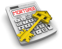 Calculation of mortgage lending. Concept Royalty Free Stock Images
