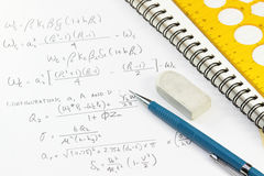 Calculation notes Stock Image