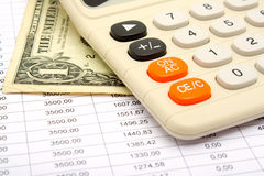 Calculation of payments under the credit Royalty Free Stock Photos
