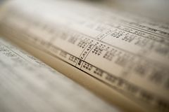 Calculation table book Royalty Free Stock Image