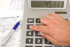Calculation time Stock Image