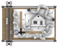 Calculation of ventilation of the house Royalty Free Stock Photos