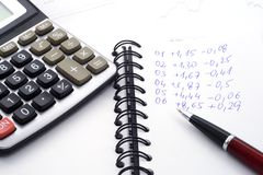 Calculations Stock Photography