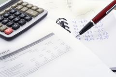 Calculations Royalty Free Stock Image