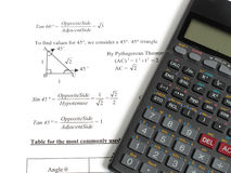 Calculations of Angles Royalty Free Stock Image