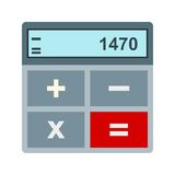 Calculations. Business, profit icon vector image. Can also be used for currency. Suitable for web apps, mobile apps and print media Royalty Free Stock Photography