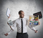 Calculations and crisis Stock Image