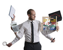 Calculations and crisis Royalty Free Stock Photo