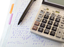 Calculations and formulas Royalty Free Stock Photo