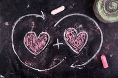 Calculations of love Stock Images