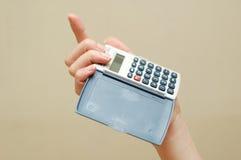 calculative kvinna Royaltyfria Bilder