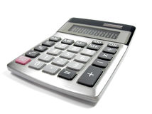 Calculator Royalty-vrije Stock Foto's