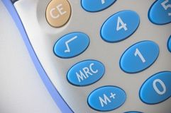 Calculator. Detail of a portable calculator Royalty Free Stock Photography