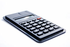 Calculator. Isolated on the white background, chiffre Stock Photo